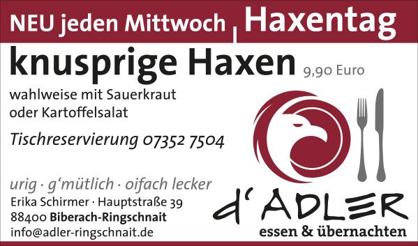 haxentag-adler-ringschnait